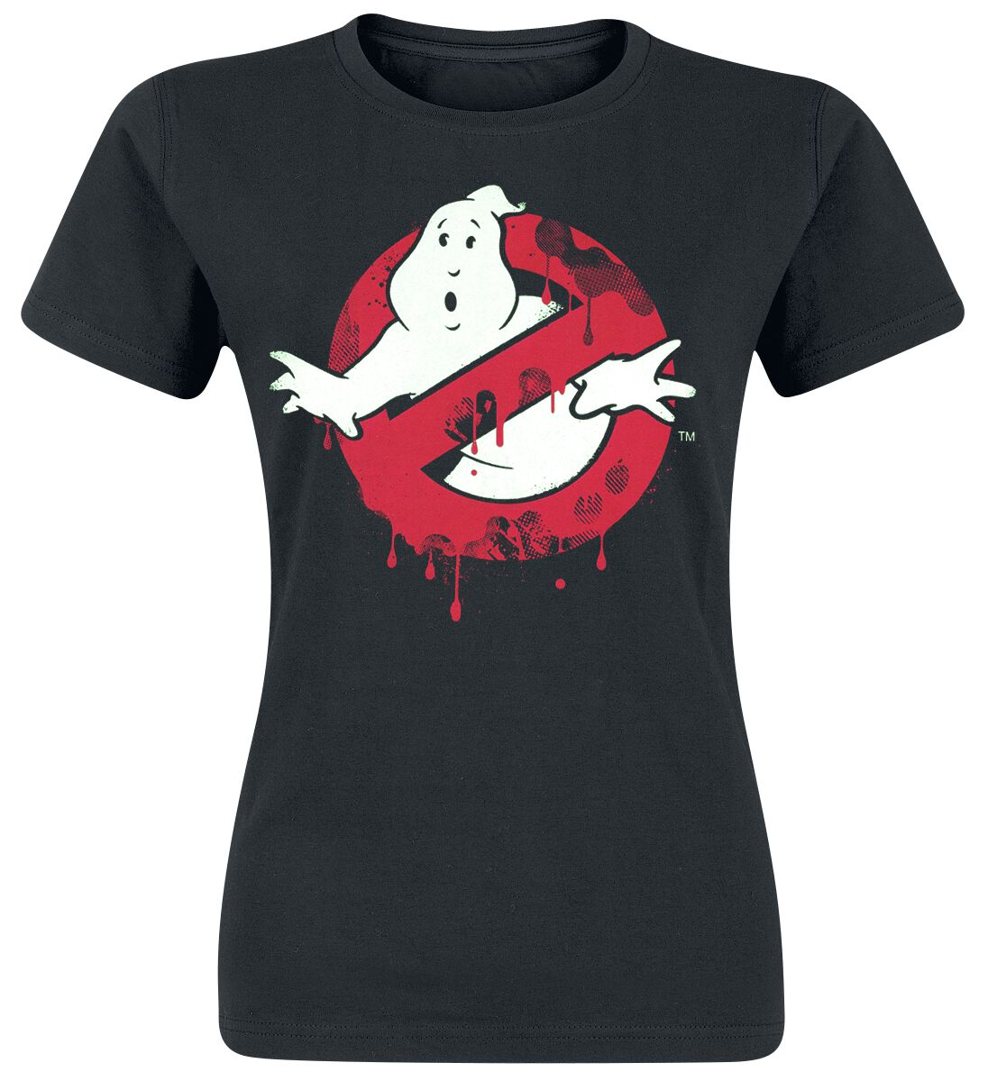 Merch dla Fanów - Koszulki - Koszulka damska Ghostbusters Logo Koszulka damska czarny - 371722