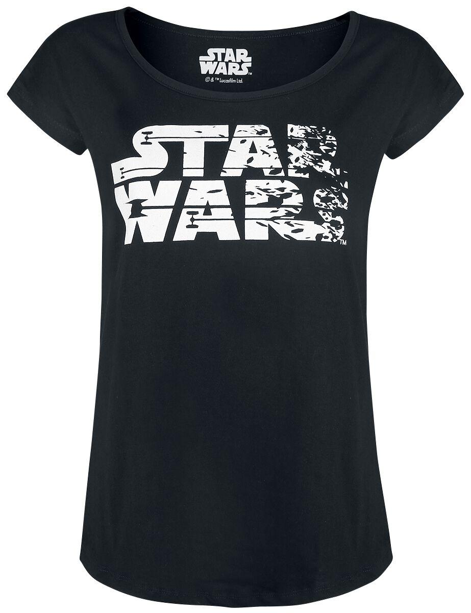 Star Wars Episode 8 - The Last Jedi - Logo Koszulka damska czarny