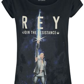 Star Wars Episode 8 - The Last Jedi - Rey Join The Resistance T-shirt Femme noir