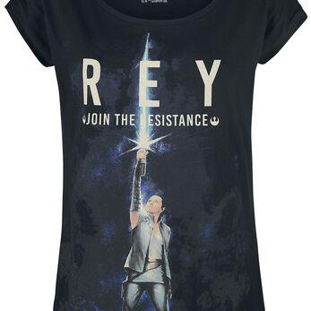 Star Wars Episode 8 - The Last Jedi - Rey Join The Resistance T-shirt Femme noir