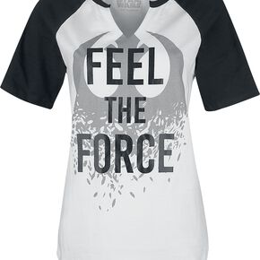 Star Wars Episode 8 - The Last Jedi - Feel The Force T-shirt Femme blanc/noir