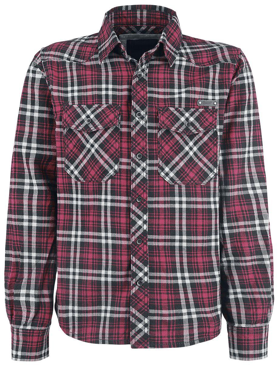 Image of   Brandit Checkshirt Skjorte sort-rød-hvid