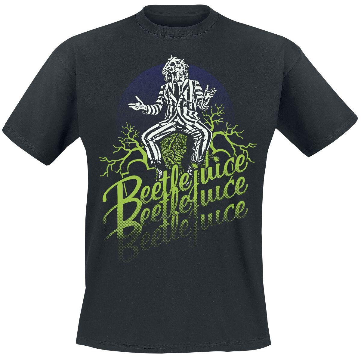 Merch dla Fanów - Koszulki - T-Shirt Beetlejuice Faded T-Shirt czarny - 371797