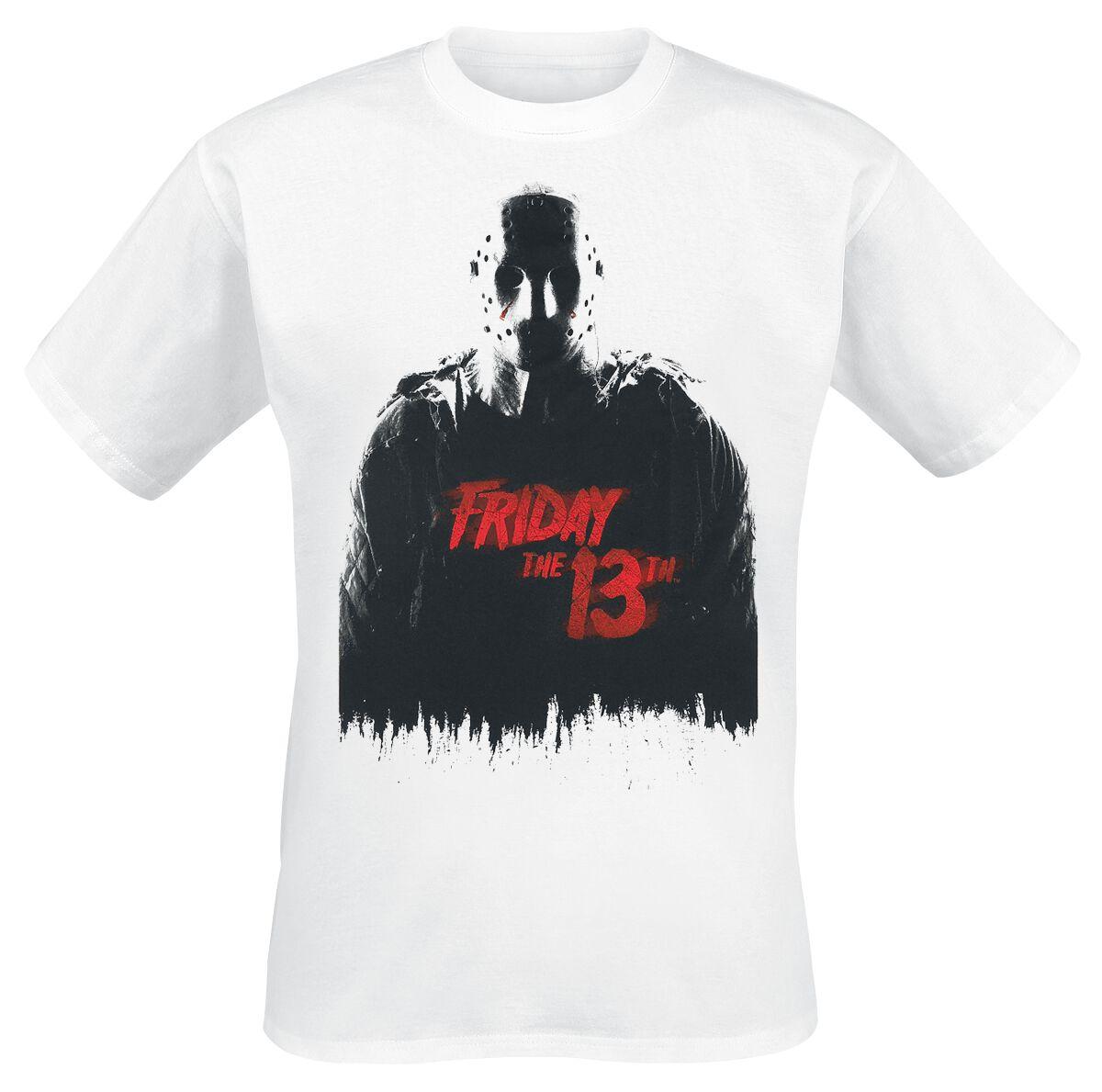 Merch dla Fanów - Koszulki - T-Shirt Friday The 13th Jason T-Shirt biały - 371804