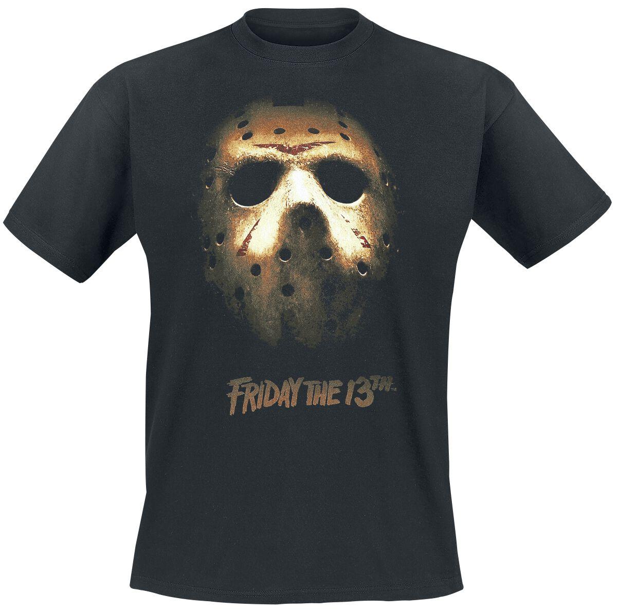 Merch dla Fanów - Koszulki - T-Shirt Friday The 13th Mask T-Shirt czarny - 371805