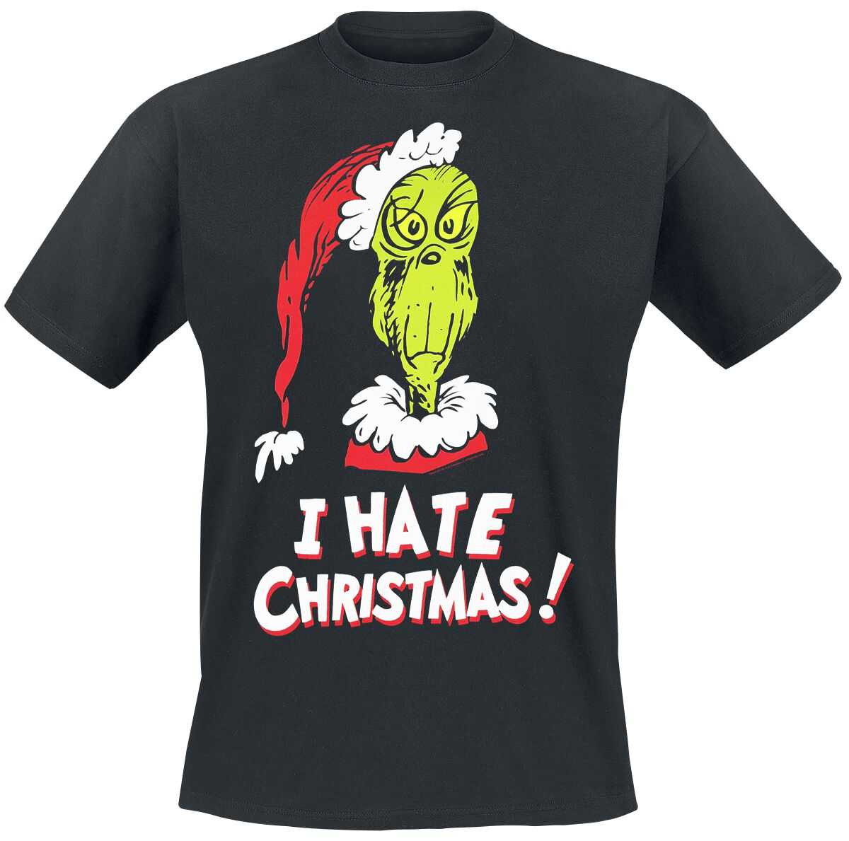 Merch dla Fanów - Koszulki - T-Shirt Der Grinch I Hate Christmas! T-Shirt czarny - 371808