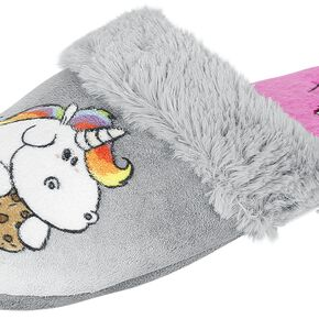 Chubby Unicorn Slipper Chaussons gris