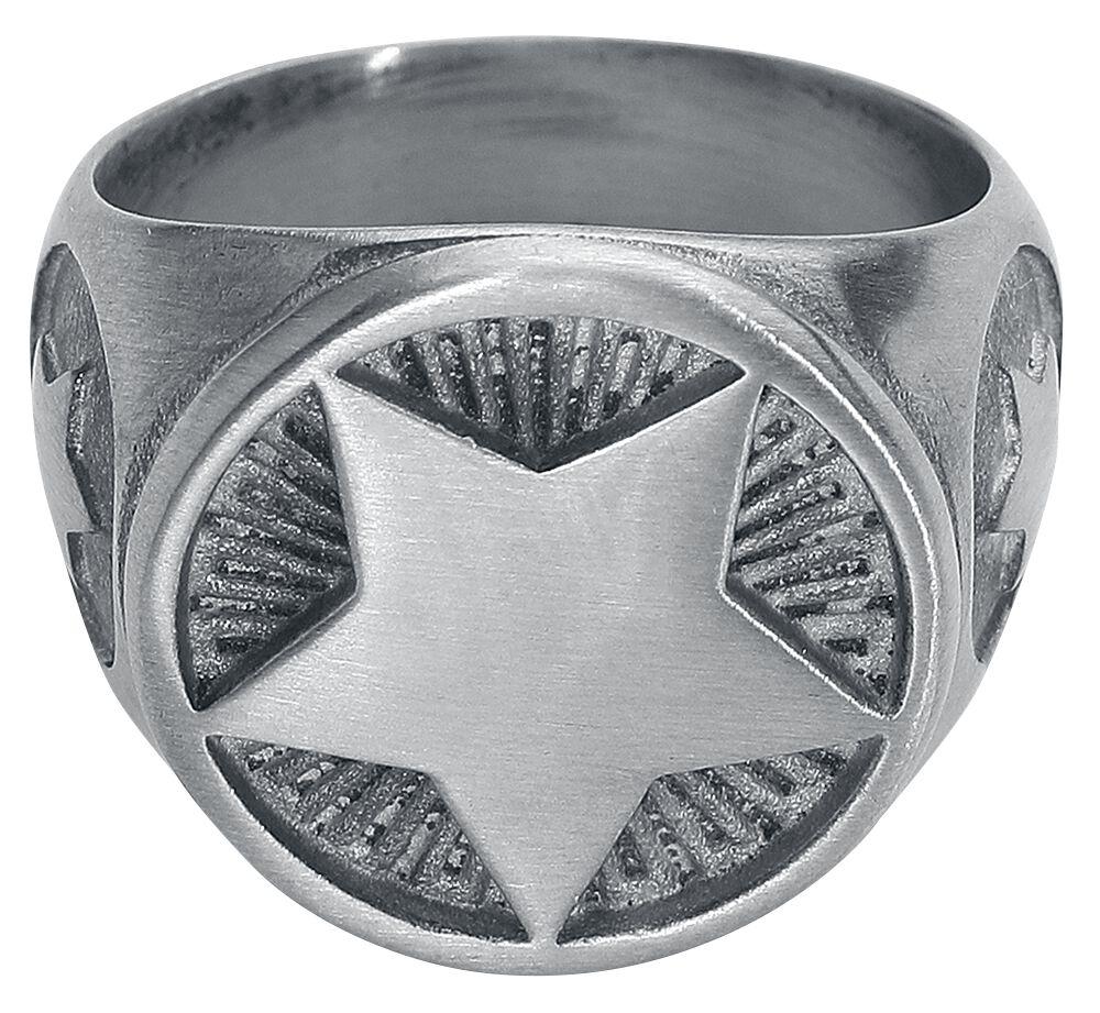 Image of   etNox hard and heavy Stern Ring sølvfarvet