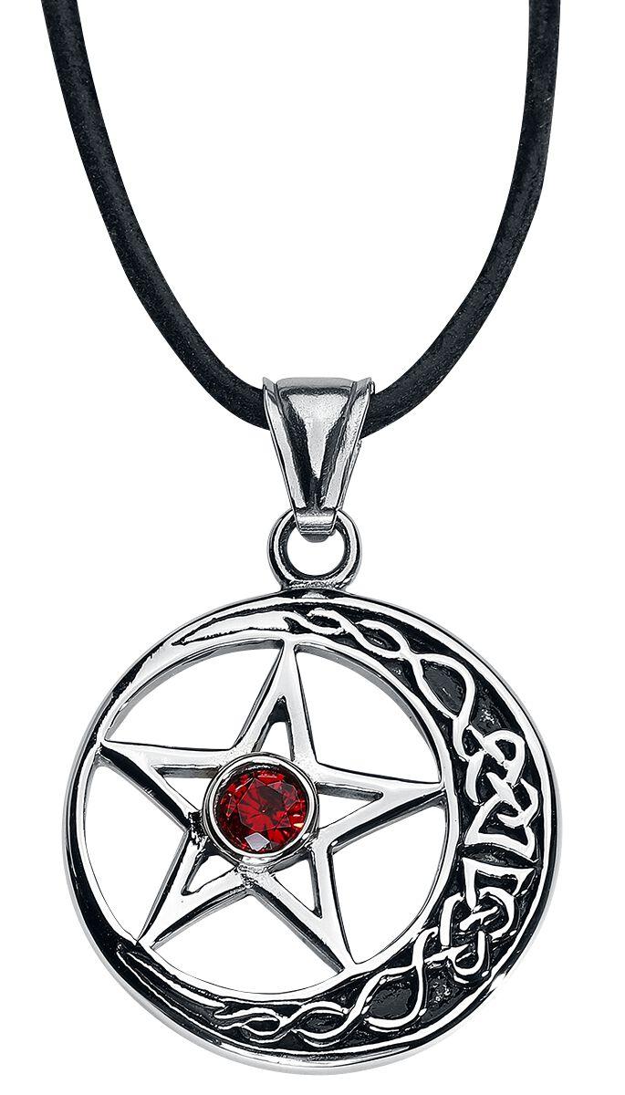 Image of   etNox hard and heavy Pentagramm Halskæde sølvfarvet