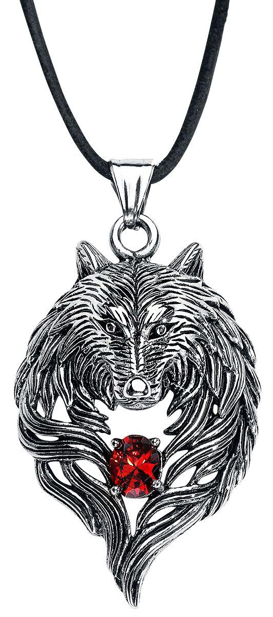 Image of   etNox hard and heavy Wolf Halskæde sølvfarvet