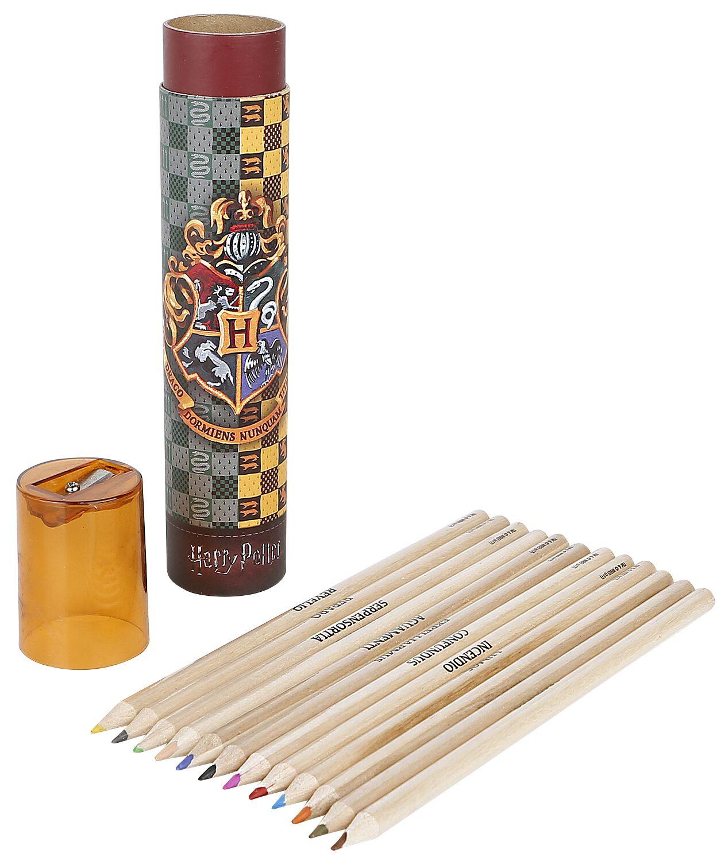 Image of   Harry Potter Farveblyanter Skrivesæt multifarvet