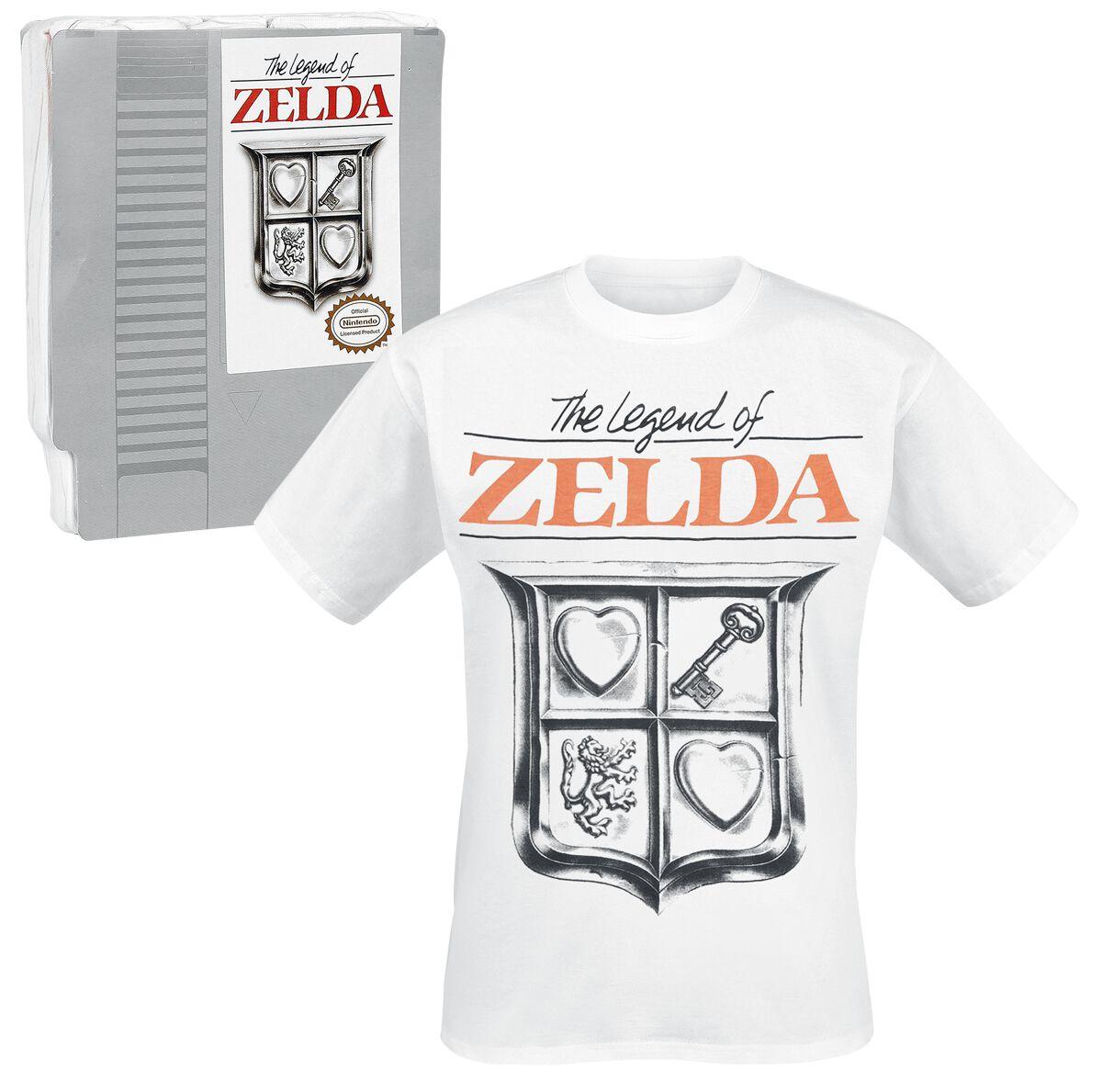 Image of   The Legend Of Zelda Game Cover T-Shirt hvid