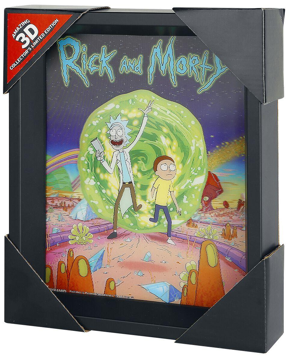 Image of   Rick And Morty Portal 3D plakat multifarvet