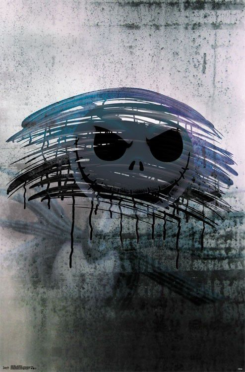 Image of   The Nightmare Before Christmas Jack Mirror Plakat multifarvet