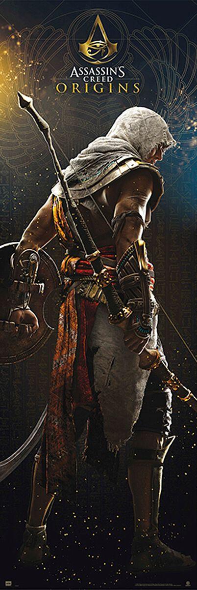 Image of   Assassin's Creed Origins - Bayek Dørplakat multifarvet