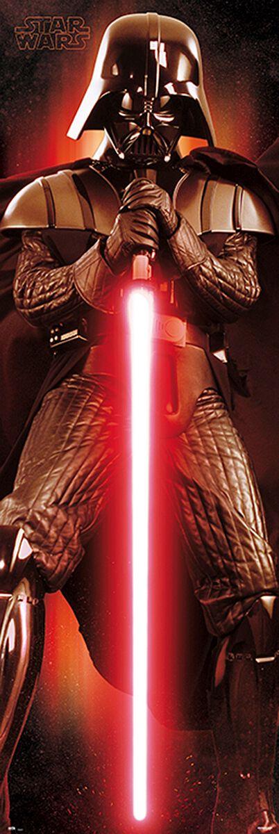Image of   Star Wars Darth Vader Dørplakat multifarvet