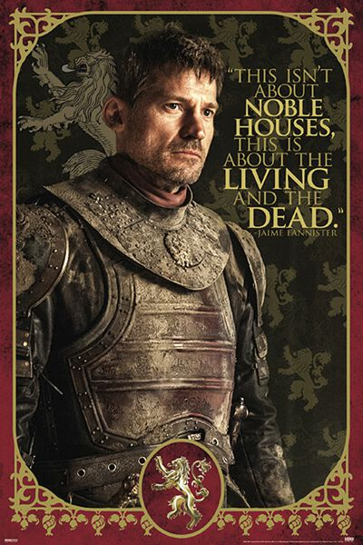 game of thrones jaime lannister poster mehrfarbig ebay. Black Bedroom Furniture Sets. Home Design Ideas