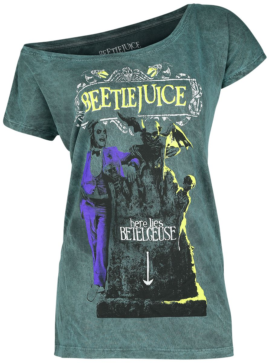 Beetlejuice Here Lies Betelgeuse Koszulka damska zielony