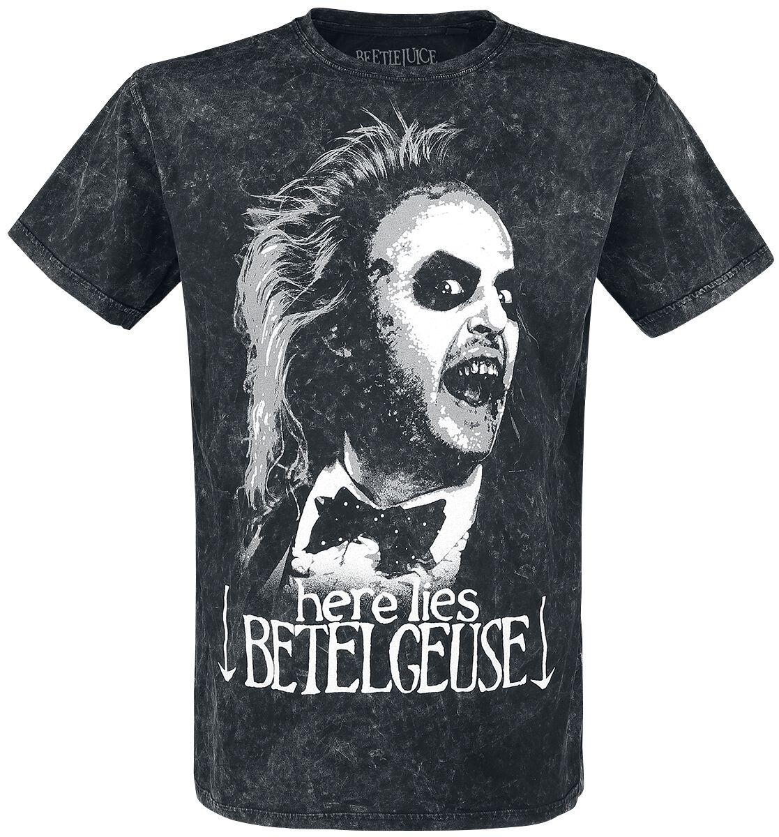 Merch dla Fanów - Koszulki - T-Shirt Beetlejuice Here Lies Betelgeuse T-Shirt szary - 372047