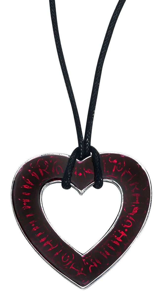 Image of   Alchemy Gothic Love Over Death Heart Halskæde sølv-rød