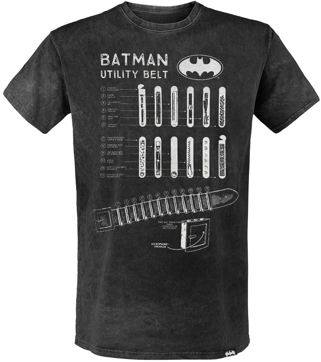 Image of   Batman Utility Belt T-Shirt antracit