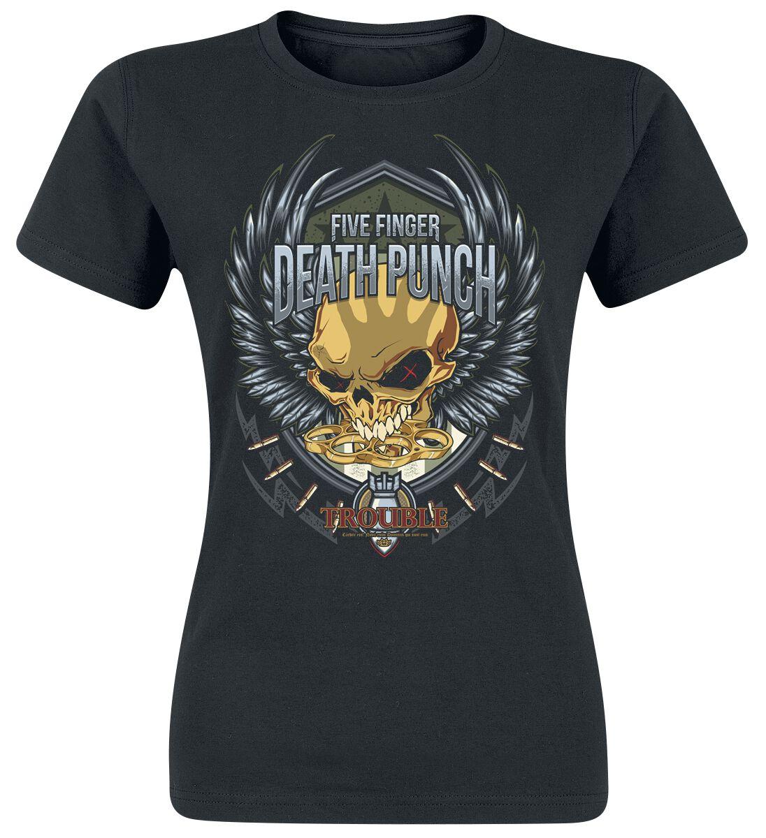 Image of   Five Finger Death Punch Trouble Girlie trøje sort