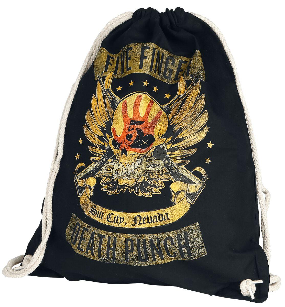 Image of   Five Finger Death Punch Locked & Loaded Gymnastiktaske sort