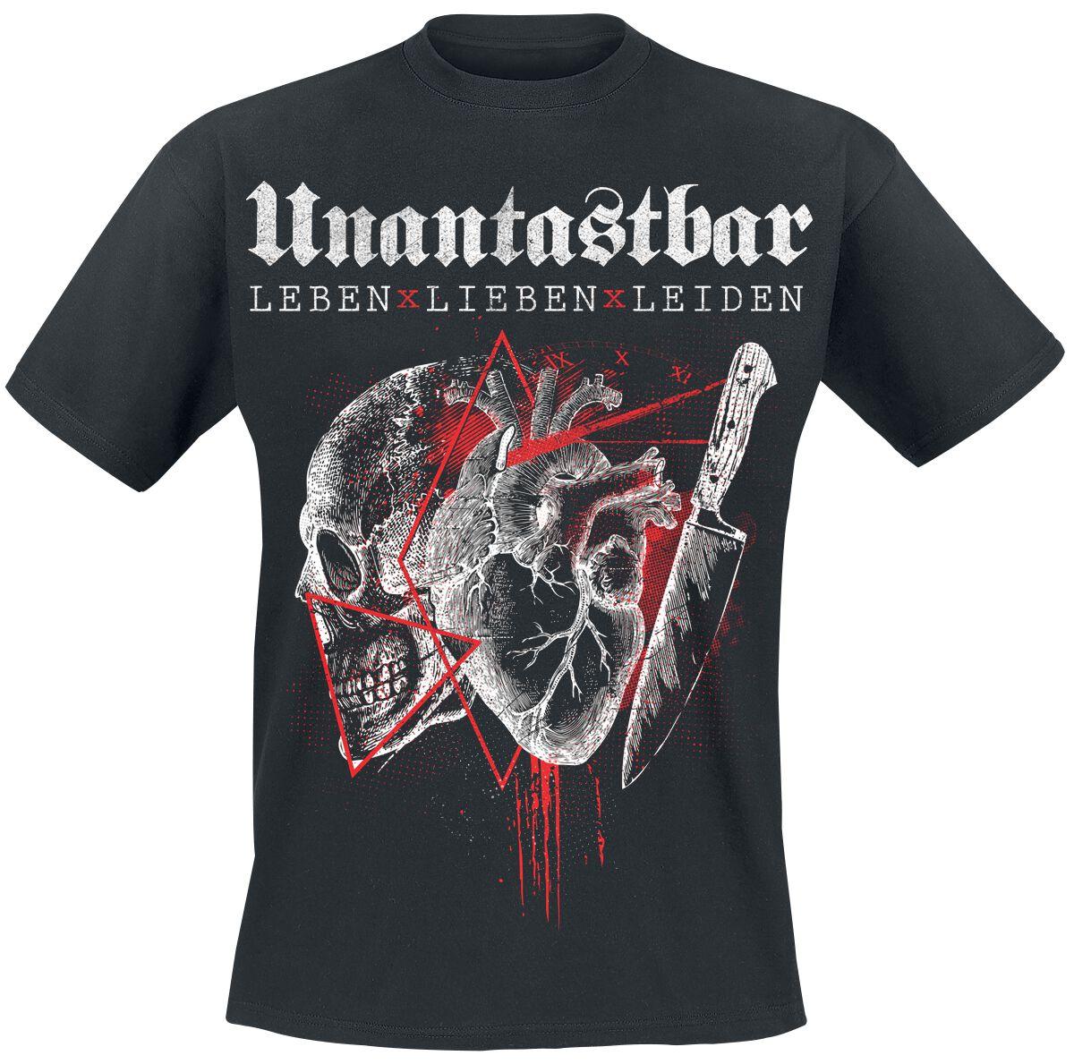Unantastbar Leben, Lieben, Leiden T-Shirt schwarz
