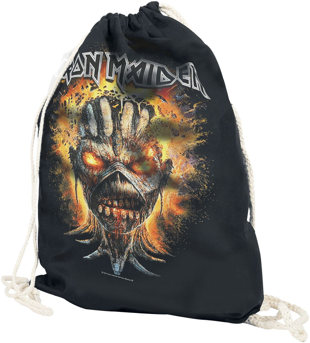 Image of   Iron Maiden Eddie Exploding Head Gymnastiktaske sort