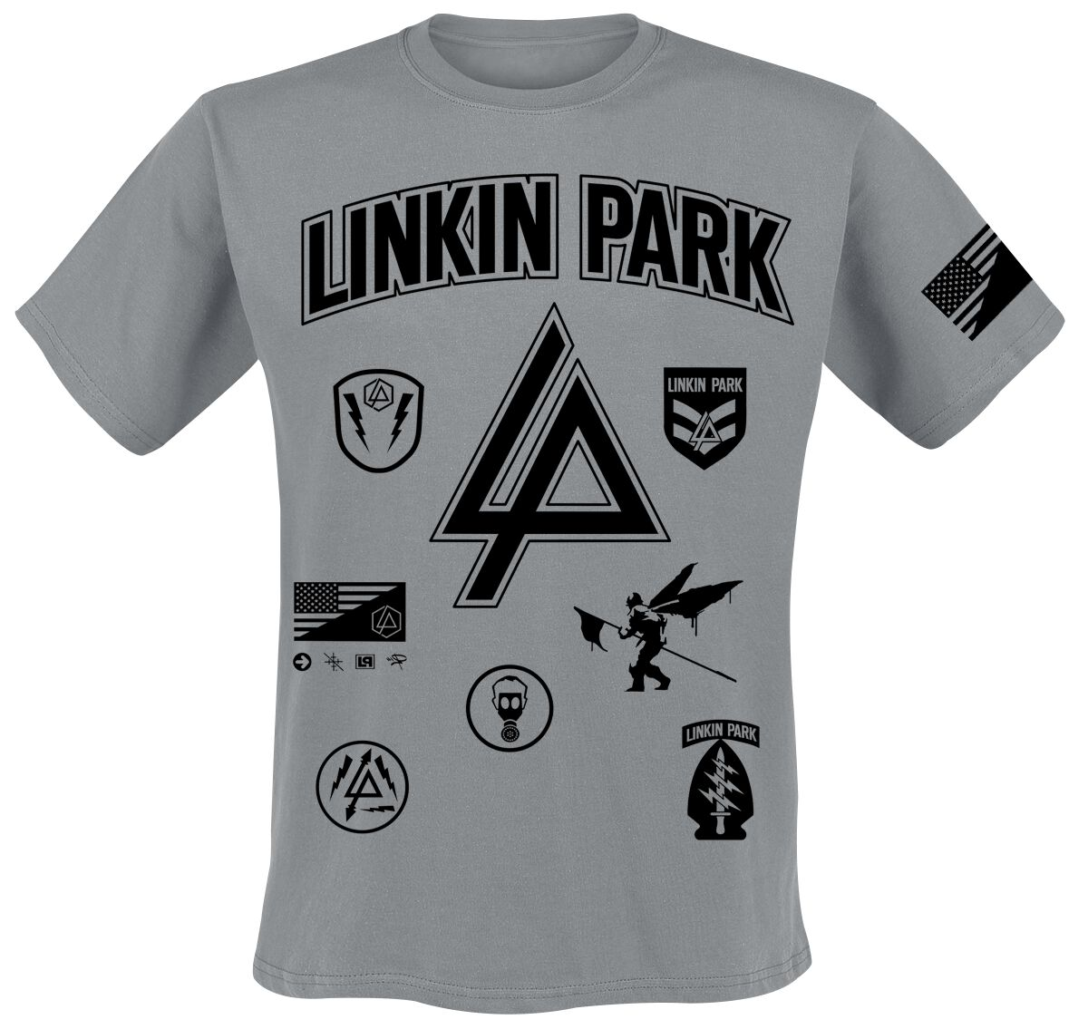 Image of   Linkin Park Patches T-Shirt grålig