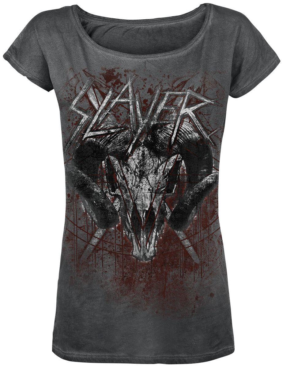 Image of   Slayer Mongo Goat Girlie trøje mørk grå