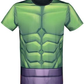 Marvel Men's Hulk Sublimated T-Shirt - Green - S - Vert Citron