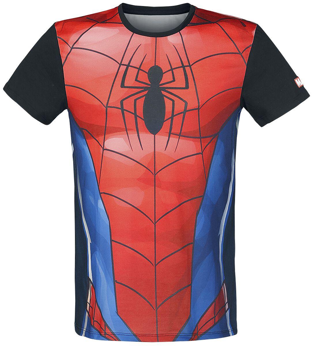 Image of   Spiderman Cosplay T-Shirt multifarvet