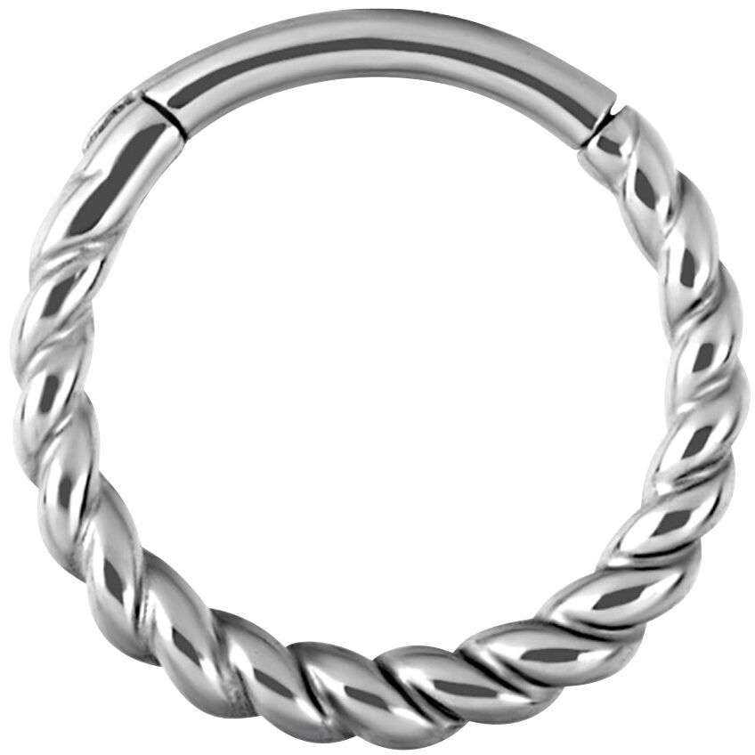 Steel Basicline® Twisted Rope Piercing silberfa...