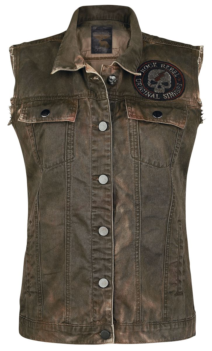 Image of   Rock Rebel by EMP Don't Stand So Close To Me Girlie vest brun