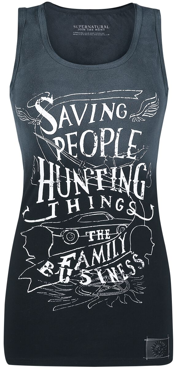 Image of   Supernatural Saving People Girlie top grå