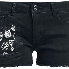 Supernatural Join The Hunt Short Femme noir