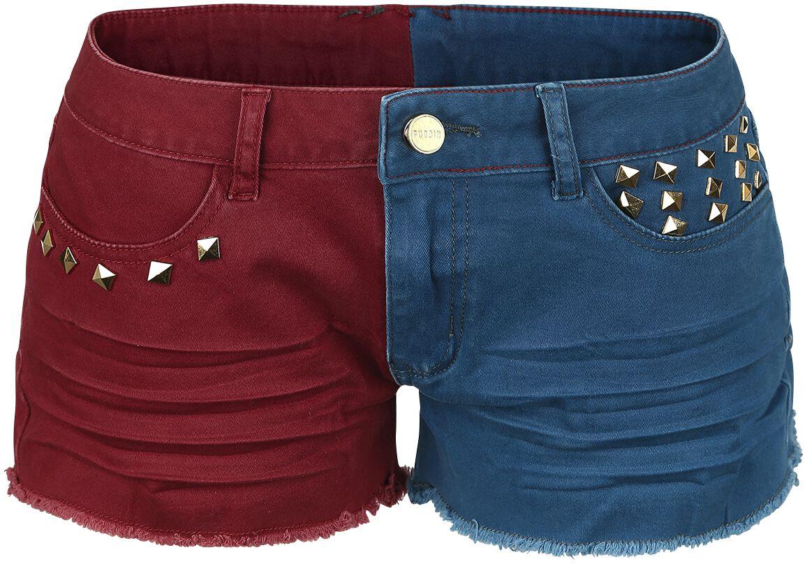 Image of   Suicide Squad Daddy's Lil Monster Girlie shorts rød-blå