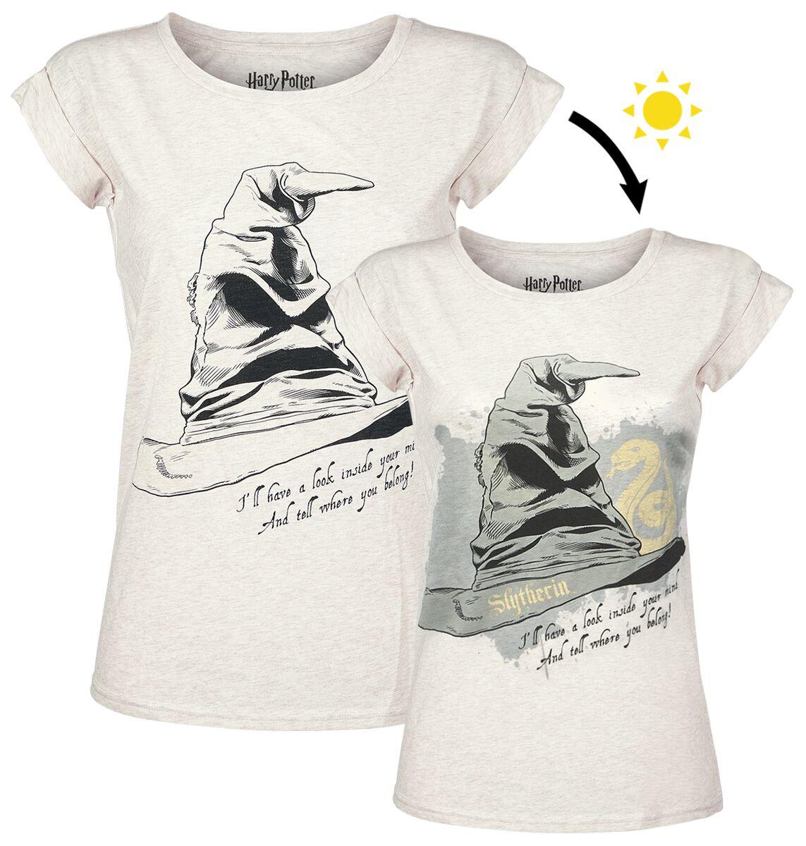 Harry Potter Der sprechende Hut - Slytherin Koszulka damska biały