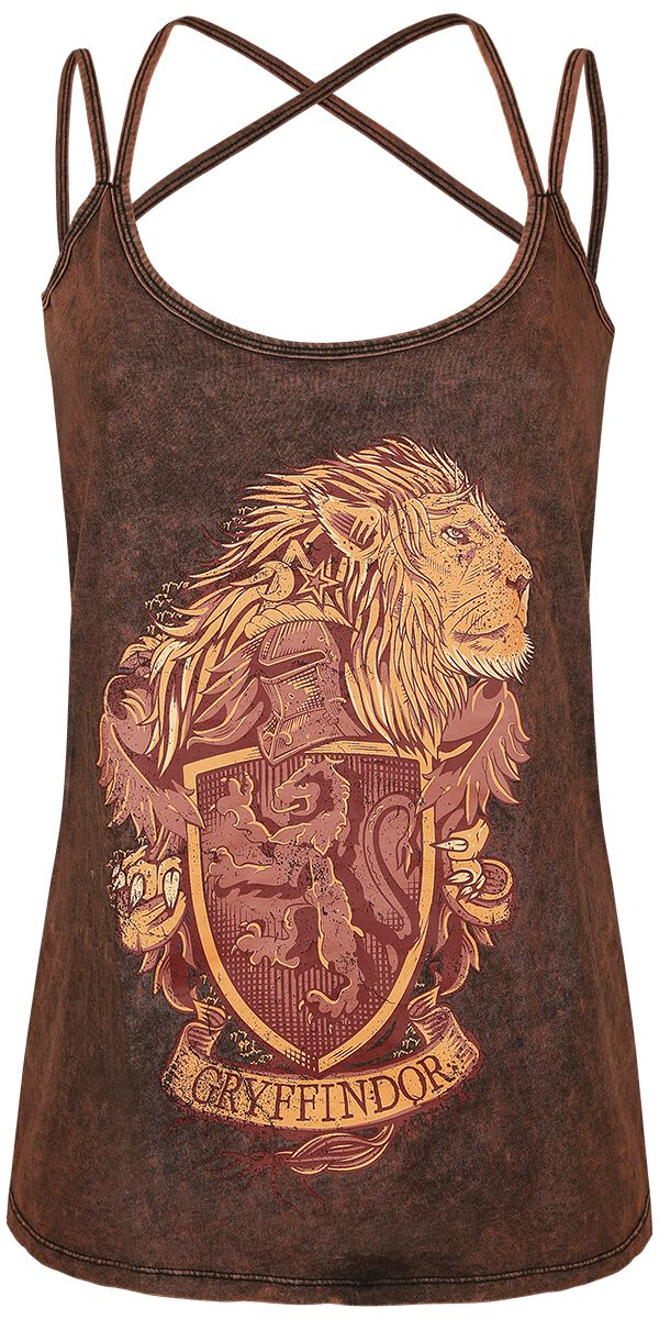 Image of   Harry Potter Gryffindor Crest Girlie top mørk rød
