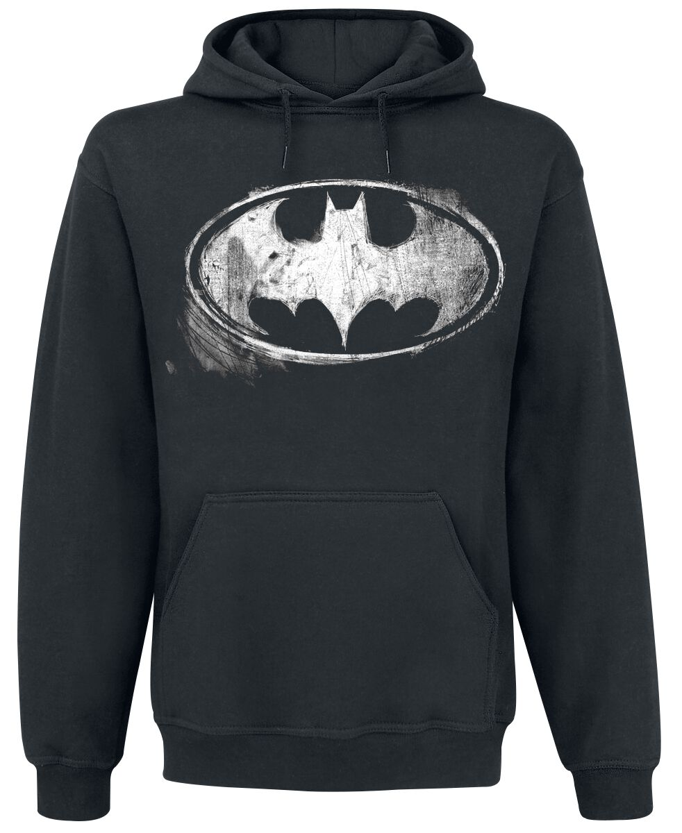 Image of   Batman Distressed Logo Hættetrøje sort