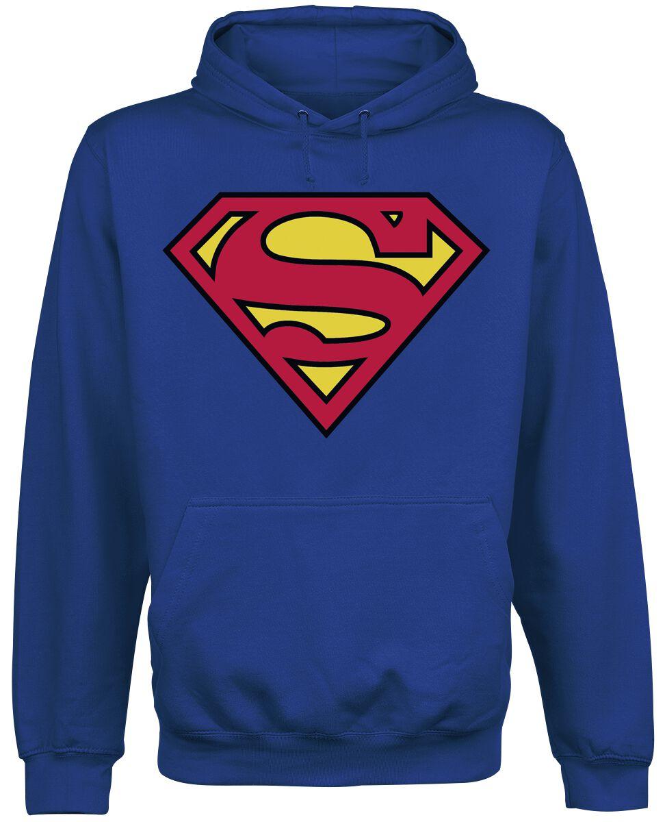 Merch dla Fanów - Bluzy z kapturem - Bluza z kapturem Superman Logo Bluza z kapturem niebieski - 372365
