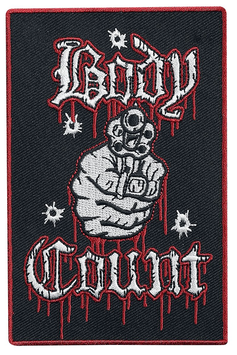 Body Count Talk shit get shot Patch Mehrfarbig