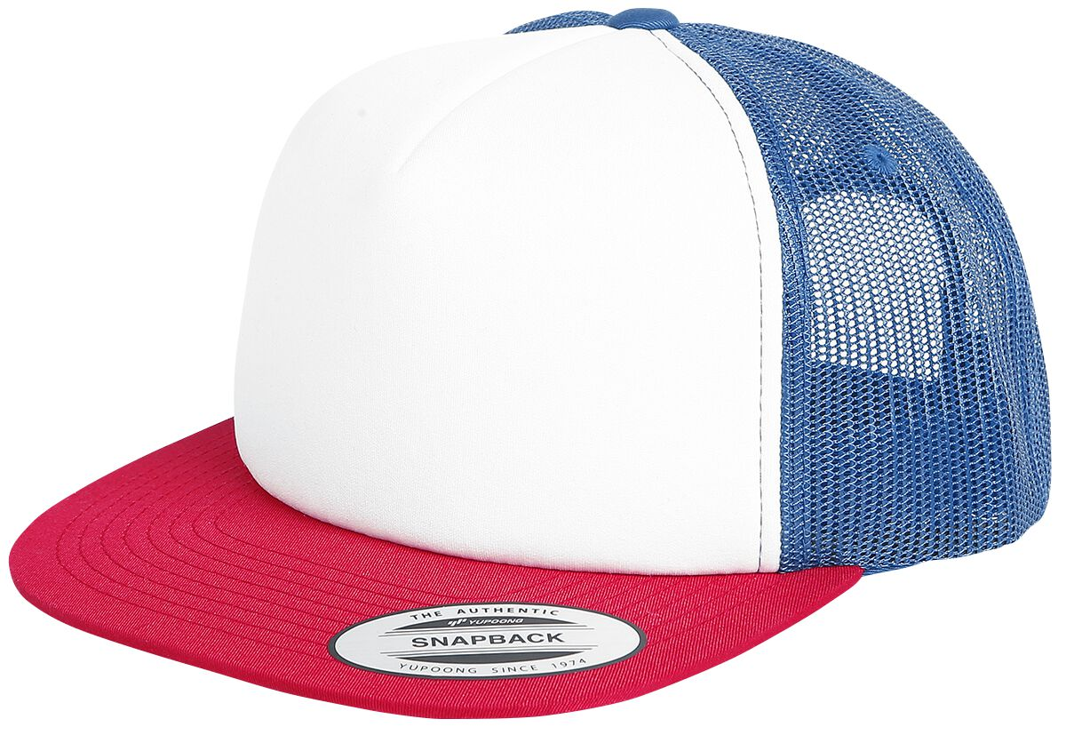 Yupoong Retro Trucker Cap Truckercap weiß/navy/rot