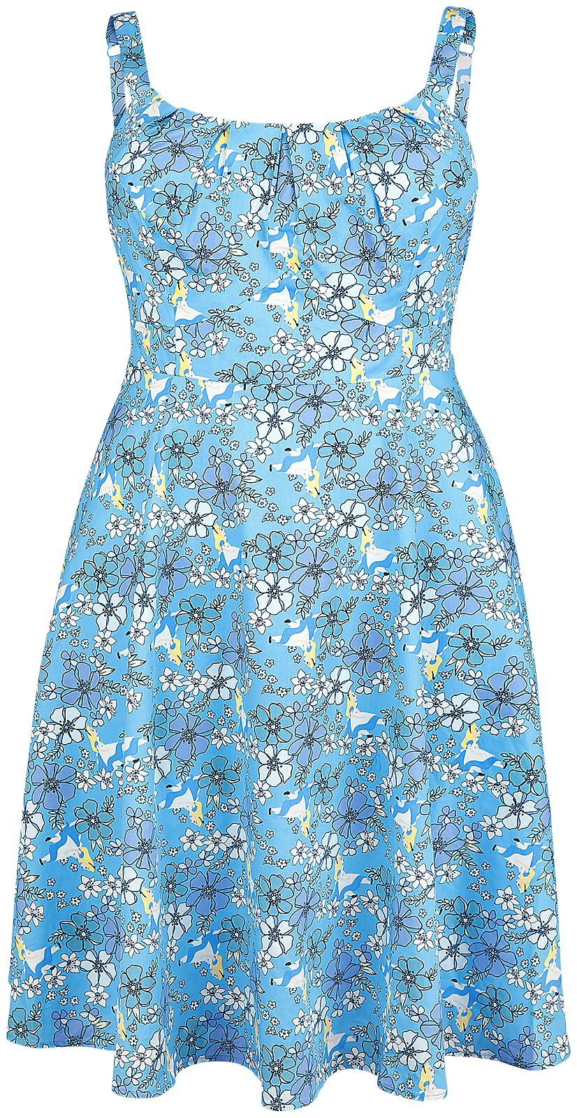 Image of   Alice i Eventyrland Retro Floral Kjole multifarvet