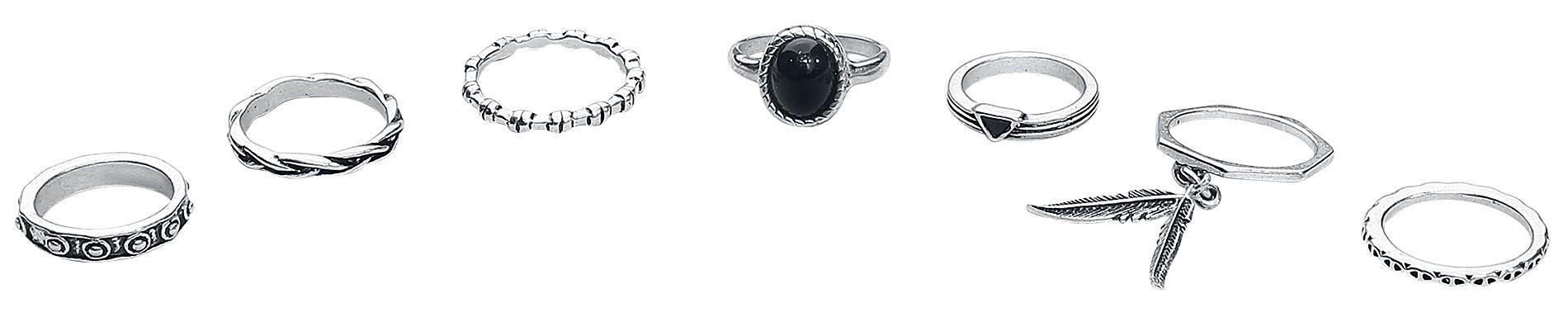Marki - Pierścienie - Pierścień Wildkitten® Bohemian Ring Set Pierścień czarny/odcienie srebrnego - 372418