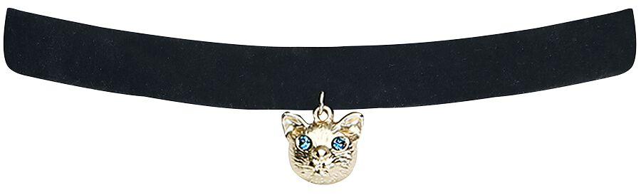 Basics - Naszyjniki - Naszyjnik Wildcat Velvet Blue-Eyed Cat Naszyjnik czarny/złoty - 372439