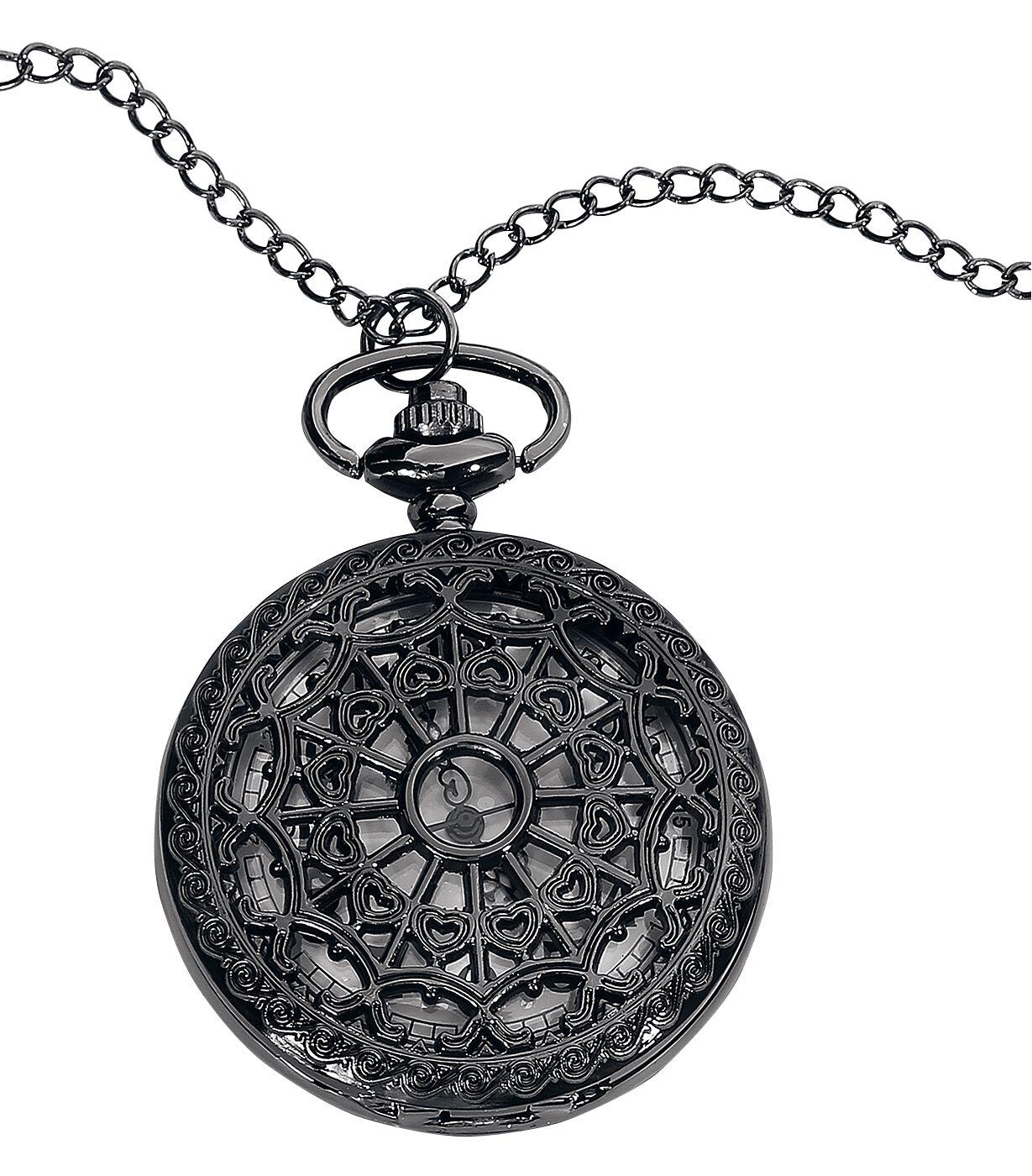 Marki - Zegarki na rękę - Zegarek - Naszyjnik Wildkitten Mandala Pocket Watch Zegarek - Naszyjnik czarny - 372443