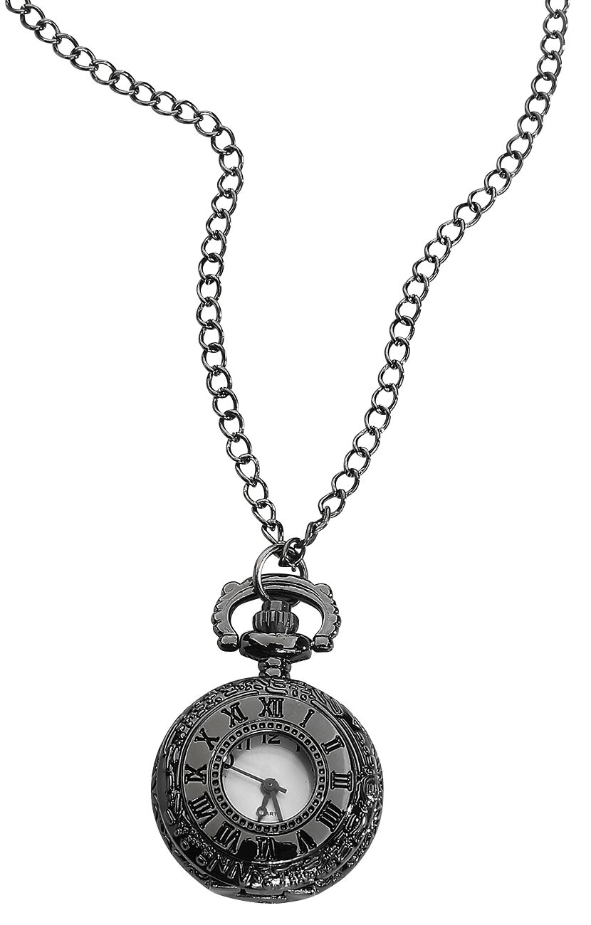 Image of   Wildcat Black Rome Pocket Watch Kædeur sort