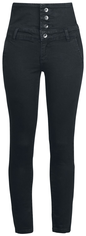 Image of   Forplay High Waist Denim Jeans Girlie jeans sort